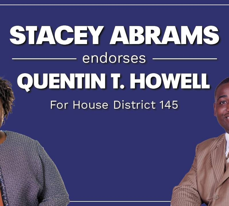 Stacey Abrams endorses Quentin T. Howell